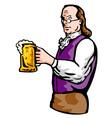 benjamin franklin beer mug vector image vector image