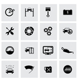 black car service icons set vector image