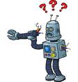 broken robot vector image vector image