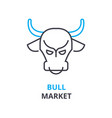 bull market concept outline icon linear sign vector image vector image