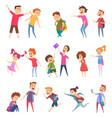 bullied characters school kids conflict social vector image vector image