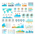 business demographics and statistics infographic vector image