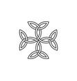 Carolingian cross triquetra symbol