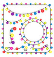 christmas lights and new year party on white vector image vector image