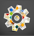 cog icon colorful squares inside gear symbol vector image vector image