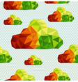 Colorful geometric clouds seamless pattern vector image vector image