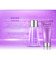 cosmetic products ad 3d skin vector image vector image