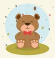 cute bear teddy animal character vector image