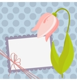 Cute template for Mothers Day postcard vector image
