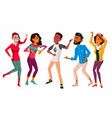 dancing people set people dance move to vector image