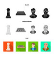 design of checkmate and thin logo vector image vector image