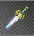 epic sword isolated game element vector image vector image