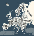 Europe map poster map europe with country