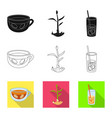 fresh and product icon set vector image vector image