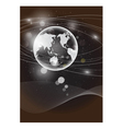 Globe abstract background eps 10 vector image vector image
