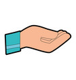 hand receiving isolated icon vector image vector image