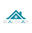 home roof real estate logo vector image