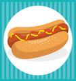 hot dog fast food menu vector image vector image