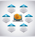 infographic elements image vector image