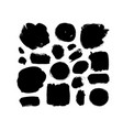 ink brush strokes and shapes collection vector image vector image