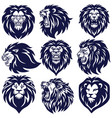 lion logo set premium collection design vector image vector image