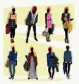 london fashion street vector image vector image