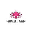 lotus flower logobeauty fashion logo template vector image vector image