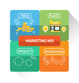 marketing mix infographic design vector image