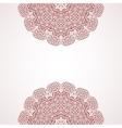 Mehndi henna design background vector image vector image