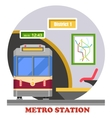 Metro subway rapid transit or heavy rail vector image vector image