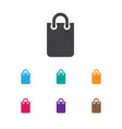 of shopping symbol on handbag vector image