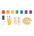 paint and tool drawing kit icon flat isolated vector image vector image