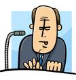 politician giving speech cartoon vector image