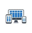responsive web design glyph icon vector image vector image