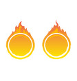 round fire frames vector image vector image
