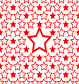 seamless red star pattern design background vector image vector image