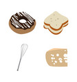 set of bakery icons vector image vector image