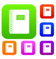 spiral notepad set color collection vector image vector image