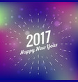 Stylish 2017 happy new year design on colorful