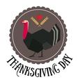 thanksgiving day round logo vector image