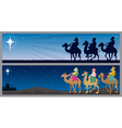 three kings landscapes vector image vector image