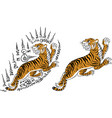 tiger thai traditional tattoo vector image vector image