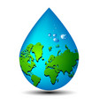 Water drop earth ecology concept vector image vector image