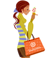 woman with ice cream vector image vector image