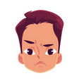 young man face angry facial expression vector image vector image