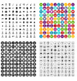100 career icons set variant vector image vector image