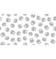 animal tracks seamless pattern with flat vector image vector image