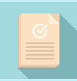 approved document icon flat certificate
