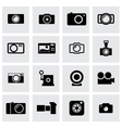 Black camera icon set