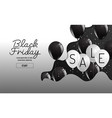 black friday organic styleballoon banner vector image vector image